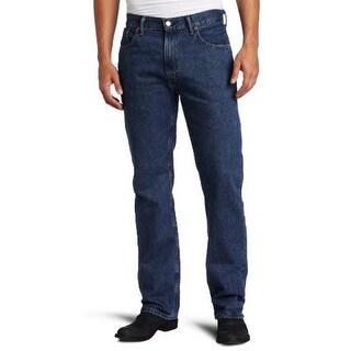 Levis Mens 505 Regular Fit Jean, Dark Stonewash