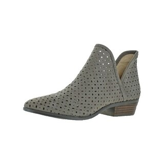 Lucky Brand Womens Kelbie 3 Booties Nubuck Perforated