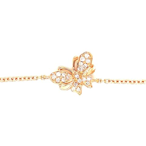 Kabella Gold Diamond Double Wing Butterfly Bracelet