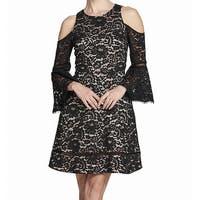 Eliza J Women's Lace Cold-Shoulder A-Line Dress