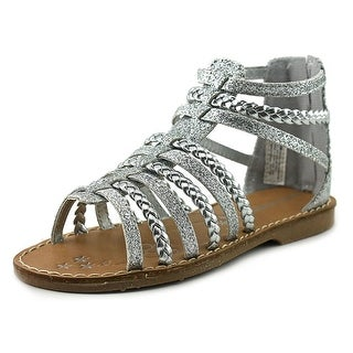 Very Cherry Shooting Star Toddler Open Toe Synthetic Silver Gladiator Sandal (Option: 9)