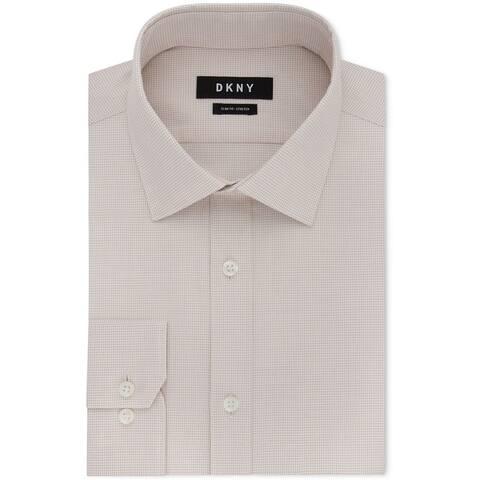 Dkny Mens Slim Fit Button Up Dress Shirt
