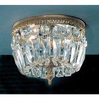"""Classic Lighting 52208-OWB 6.5"""" Crystal Flushmount from the Crystal Baskets Coll"""
