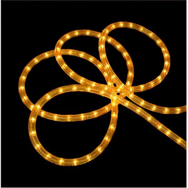 102' Gold Indoor/Outdoor Christmas Rope Lights