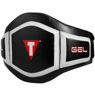 Title Boxing MMA Performance Thai Style Protective Belly Pad - Black/White - One size