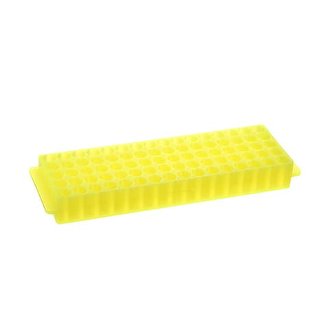 2 Kind of Tube Rack Polypropylene 80-Well Yellow for 0.2ml, 1.5ml, 2ml