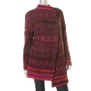 Rachel Rachel Roy Womens Boucle Buckle Cardigan Sweater - XXL