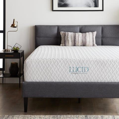 LUCID Comfort Collection 12-inch Medium Firm Gel Memory Foam Mattress