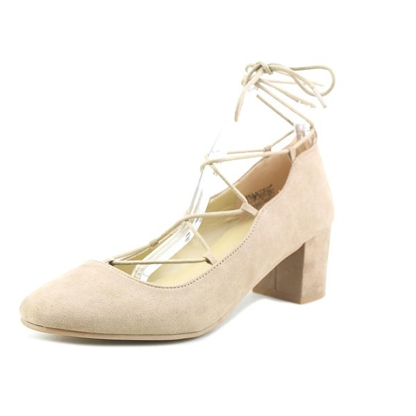 Wanted Abby Women Round Toe Synthetic Nude Heels