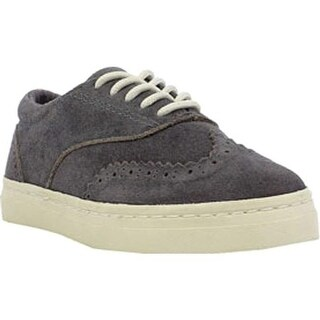 Umi Boys' Preston Wing Tip Oxford Gray Leather