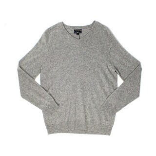 Club Room NEW Gray Heather Mens Size Large L V-Neck Cashmere Sweater