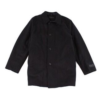 IKE BEHAR NEW Black Mens Size XL Four Button Wool Seville Coat