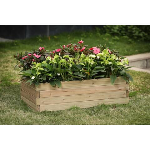 Wood 2.7ft x 1.3ft Raised Garden Bed