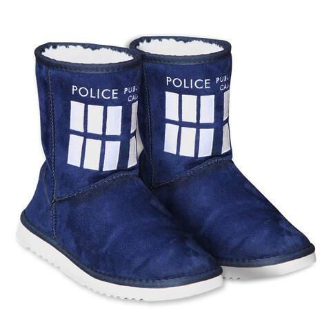 Doctor Who Women's TARDIS Boot Slippers