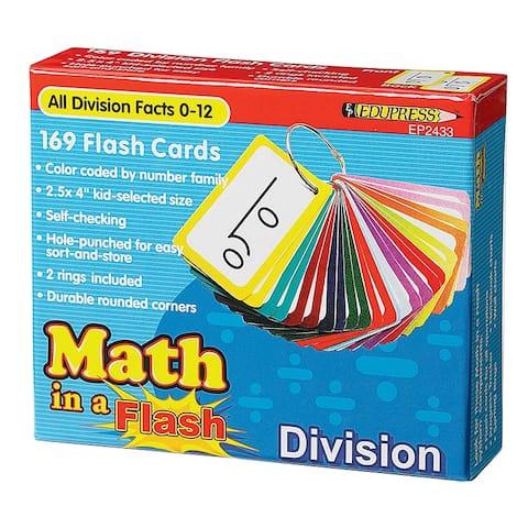 Edupress math in a flash division flash card 2433