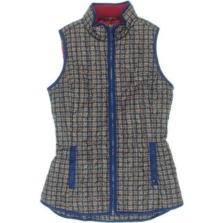 Tommy Hilfiger Womens Down Printed Packable Vest
