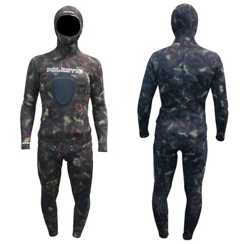 Palantic Spearfishing 7mm Neoprene Camouflage Stretch Max Farmer John Wetsuit