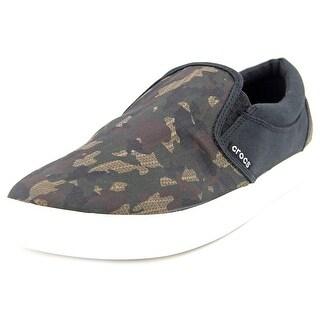 Crocs CitiLane Graphic Slip-on Sneaker Men Round Toe Canvas Sneakers