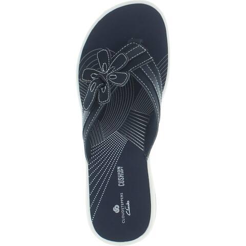 Clarks Women's Brinkley Flora Lightweight Ortholite Thong Flip Flop Sandal