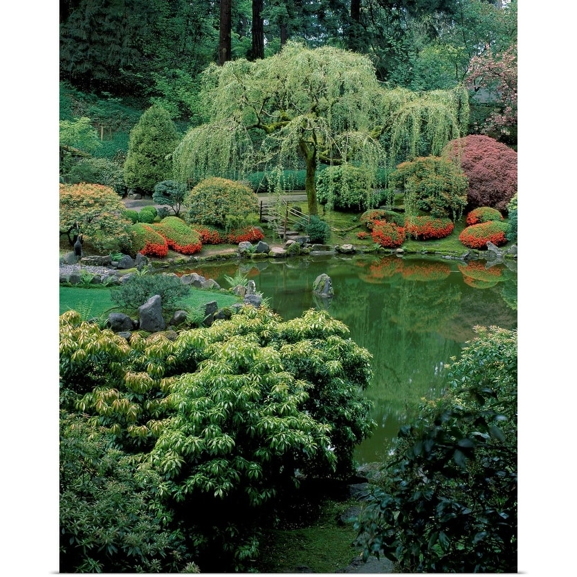 Shop Weeping Willow Tree And Pond In A Japanese Garden