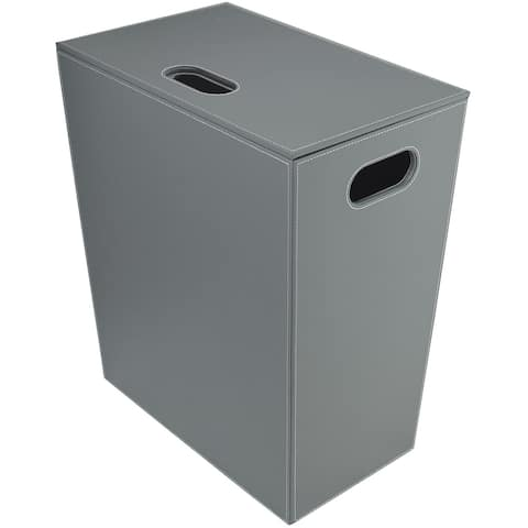 WS Bath Collections Ecopelle 2462 Ecopelle Leather Laundry Basket -