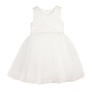 Designer Kidz Baby Girls Ivory Lace Scarlet Tutu Flower Girl Dress