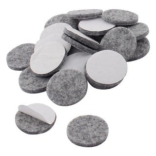 Houseware Self Stick Surfaces Protecting Furniture Felt Pads Gray 25mm 20pcs
