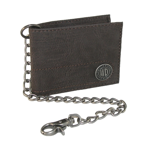 Dickies Men's Leather Slimfold Chain Wallet - One size