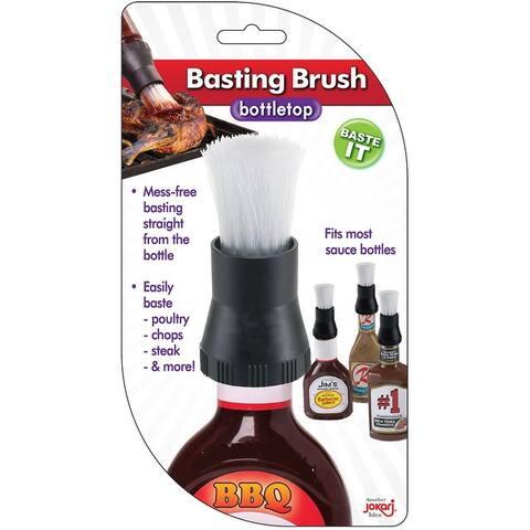 Jokari Mess-Free Bottletop BBQ Sauce Meat Basting Brush - Fits Most Bottles