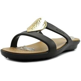 Crocs Sanrah Embelished Sandal Women  Open Toe Synthetic Brown Thong Sandal