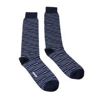 Missoni GM00CMU4657 0005 Blue/Black Striped Knee Length Socks - M