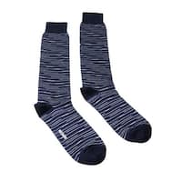 Missoni GM00CMU4657 0005 Blue/Black Knee Length Socks - M
