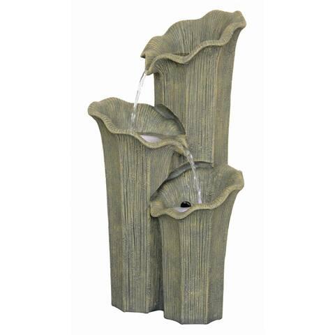 Design Toscano Three Lilies Cascading Sculptural Fountain