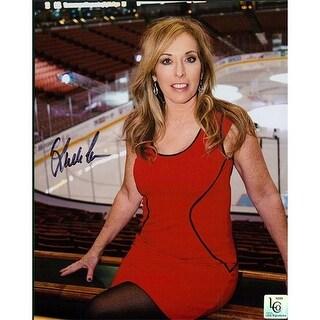 Signed Cohn Linda Linda Cohn is at Home at the Hockey Rink this