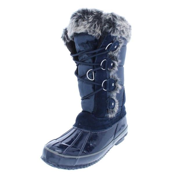 Shop Khombu Womens Bryce Winter Boots Cold Weather Faux Fur - 6
