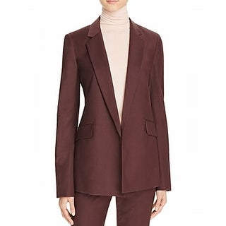 Theory NEW Burgundy Red Womens Size 2 Seamed Notch-Collar Jacket Wool