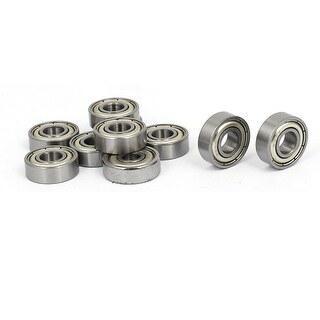 6mmx15mmx5mm Two Metal Shields Deep Groove Rolling Ball Bearings 696Z 10pcs