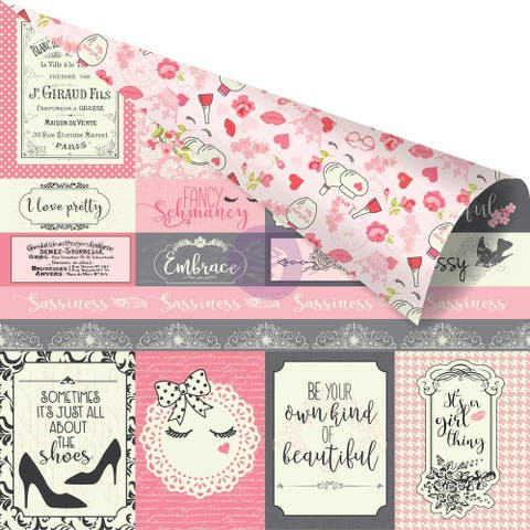 "Julie Nutting Double-Sided Cardstock 12""X12""-Sassiness Galore"