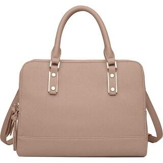 Urban Expressions Womens Marcella Satchel Handbag Pebbled Leather - MEDIUM