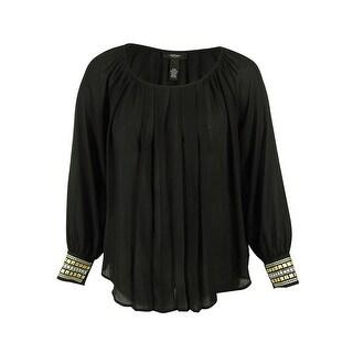 Alfani Women's Long Sleeve Embellished Top