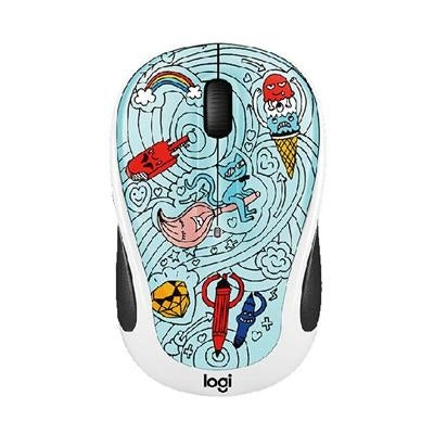 Logitech 910-005027 M325c Small Colorful Wireless Mouse - Bae Bee Blue