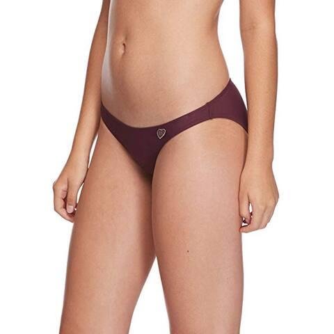 Body Glove Women's Solid Fuller Coverage Bikini Bottom Swimsuit, Porto, Medium