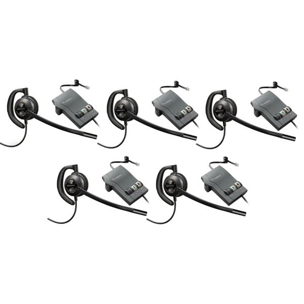 Plantronics EncorePro HW530 with M22 (5-Pack) Over-the-Ear Mono Corded Headset