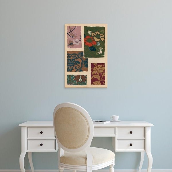 Easy Art Prints Ema Seizan's 'Japanese Textile Design II' Premium Canvas Art