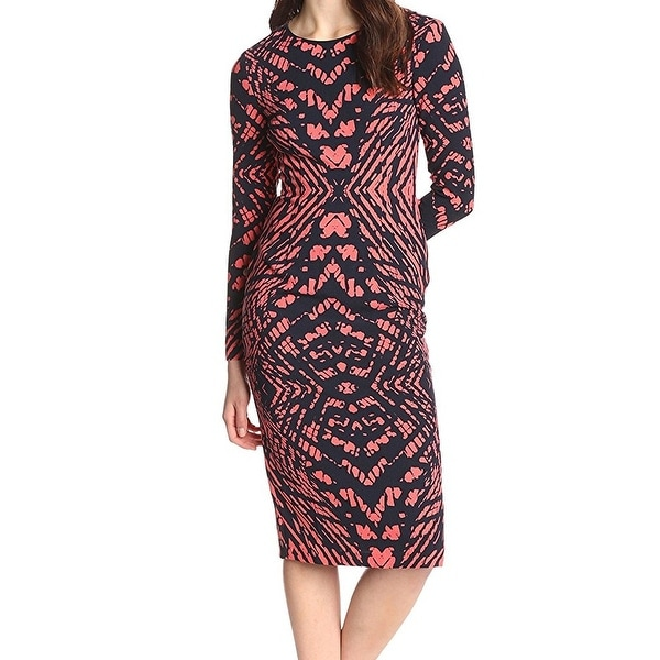 Shop Maggy London New Blue Coral Womens Size 12 African Woodblock