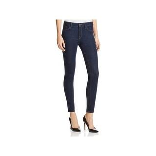 DL1961 Womens No. 3 Skinny Jeans Mid-Rise Dark Wash