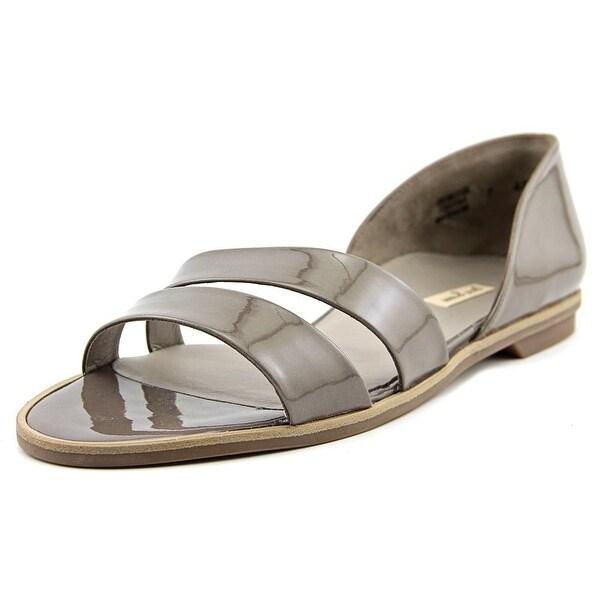 Paul Green Wynn Women Open Toe Patent Leather Tan Slides Sandal