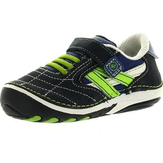 Stride Rite Kids Boys Srt Sm Jason Sneaker - Black/Lime - 4 m us toddler