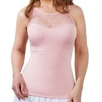 QVC SPANX 1503 Hide & Sleek Lace Bateau Tank Top Camisole Shapewear