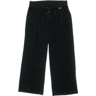 MICHAEL Michael Kors Womens Velour Ribbed Trim Lounge Pants